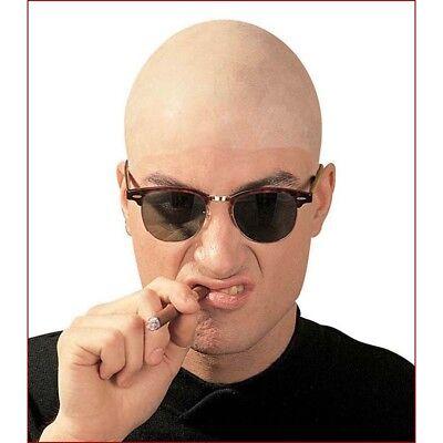 LATEX GLATZKOPF TOUPET # Glatze Skinhead Opa Zombie Sensenmann Kostüm Party - Glatzkopf Kostüm Perücke