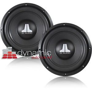 2 jl audio 10wxv2 car stereo 10 subwoofers svc 4 ohm 400w. Black Bedroom Furniture Sets. Home Design Ideas