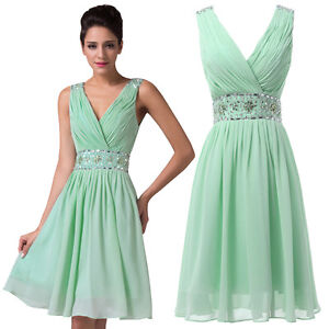 New mint green short bridesmaid dresses chiffon party for Green beach wedding dresses