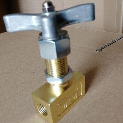 Needle Valve Control Globe 14 Inch Npt 1000psi Brass Oil Gas Pressure Gauge Us