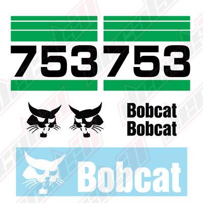 Bobcat 753 Skid Steer Set Vinyl Decal Sticker - Aftermarket