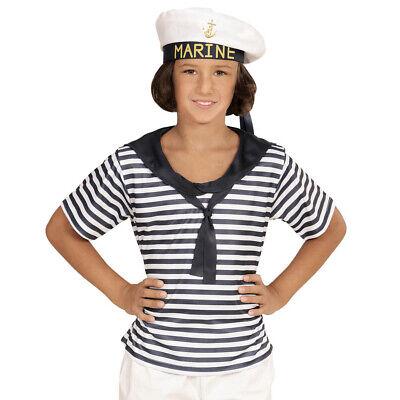 MATROSE KOSTÜM HUT KINDER # Karneval Fasching Seemann Shirt Junge Mädchen # 0311