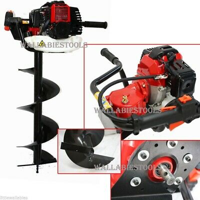 One Man 52cc Earth Planting Fencing Post Hole Digger Auger W 8 X 1m Bit