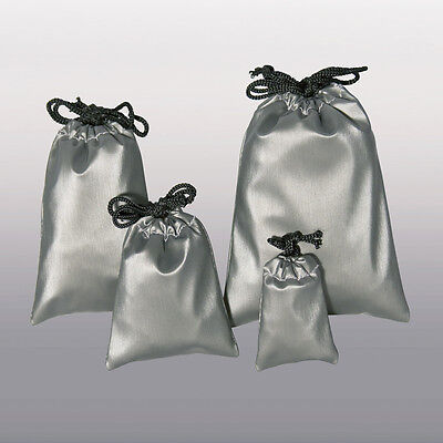 Faux Leather Jewelry Bags Drawstring Pouches Steel Grey Gift Pouch Bag 1284144