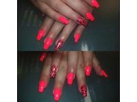 Gel nail polish manicure & free hand massage