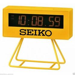 Brand New Unused Seiko Lunar Miniature Marathon Mini Timer Alarm Clock QHL062YLH