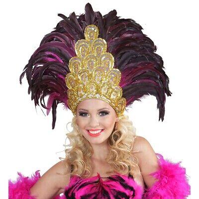 RIO FEDERKOPFSCHMUCK pink Karneval Brasilien Feder Kopfschmuck Kostüm Fest 11822