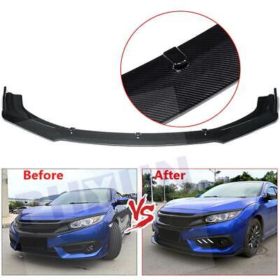 Front Bumper Lip Spoiler Wing Body Carbon fiber surface For 18-19 Honda Accord