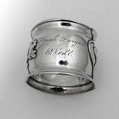 Gorham Lotus Girl Napkin Ring Sterling Silver 1900s Mono