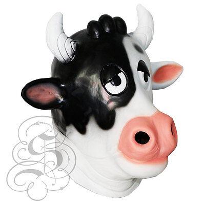 Latex Ganzer Kopf Tier Berühmt Cosplay Komisch Kuh Kostüm Karneval Masken