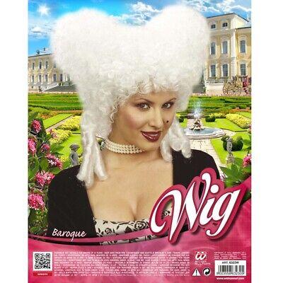 WEIßE DAMEN BAROCK PERÜCKE # Karneval Mittelalter Rokoko Renaissance Kostüm 6323 - Weiße Kostüm Perücke