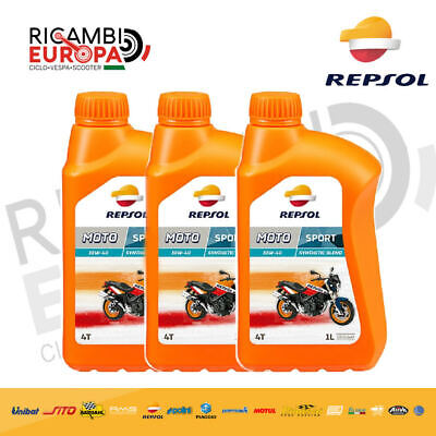 REPSOL Aceite Motor Moto Sport 4T 10W40 3 Lt Spec. Api Sl...