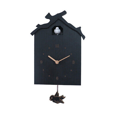 Cuckoo House Wooden Wall Clock Hanging With Pendulum For Home Office Living Room