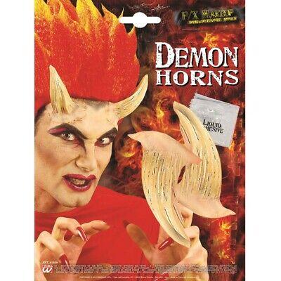 XL LATEX TEUFELSHÖRNER # Teufel Dämonen Satan Monster Hörner Kostüm Make-Up 4146 ()