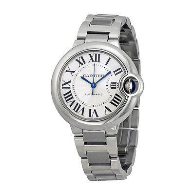 Cartier Ballon Bleu Automatic Silver Flinque Dial Ladies Watch W6920071