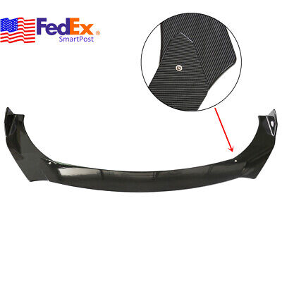 Car Front Bumper Lip Chin Spoiler Wing Body Trim Kit Universal Carbon Look US 3x