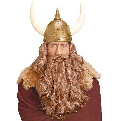 WIKINGER PERÜCKE & BART Wikingerperücke Vikinger Germane Highländer Kostüm (Wikinger Bart Kostüm)