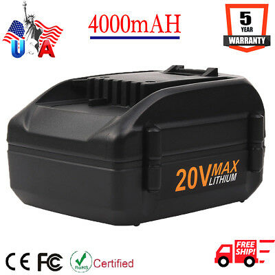 NEW! 4.0Ah For WORX WA3520 WA3525 20-Volt MAX Lithium Battery WG155 WG251s WG163