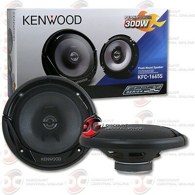 BRAND NEW KENWOOD 6.5-INCH 2-WAY CAR AUDIO COAXIAL SPEAKERS (PAIR) 6-1/2