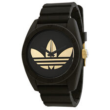 Adidas Santiago Black Dial Black Rubber Strap Mens Watch ADH2912