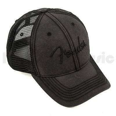 Fender Hat Washed Trucker Grey One-size