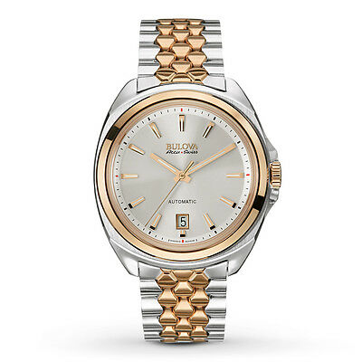Bulova Accutron Men's 65B159 Accu Swiss Telc Rose Gold and Silver Dress Watch