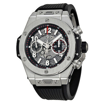 Hublot Big Bang Unico Titanium Automatic Skeletal Dial Mens Watch 411.NX.1170.RX