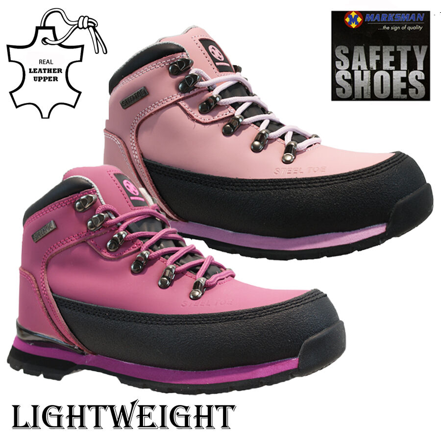 Ladies Womens Ultra Lightweight Steel Toe Cap Safety Work Trainers Shoes Boots S