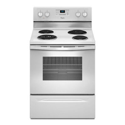 Whirlpool 30-in Self-Cleaning Electric Range (White) WFC310S0EW Clean Freestanding Electric Coil Range