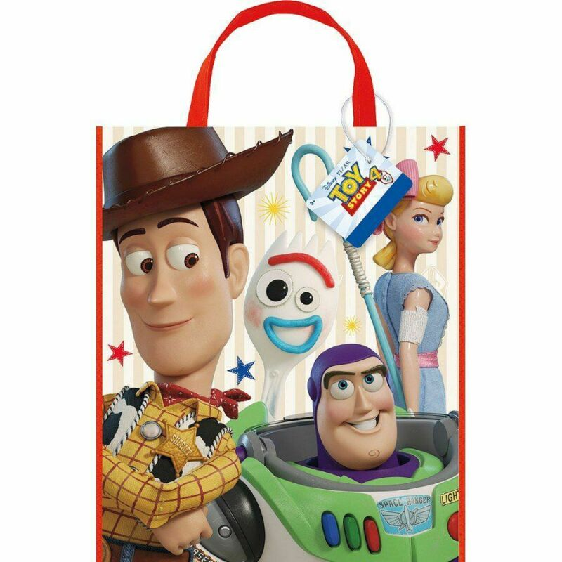 Unique Industries Disney Toy Story 4 Movie Plastic Tote Bag For Party Favor