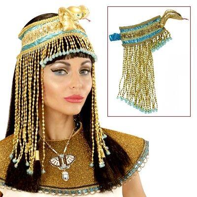 CLEOPATRA SCHLANGEN KOPFSCHMUCK Ägypten Pharao Schmuck Damen Kostüm - Cleopatra Schmuck Kostüm