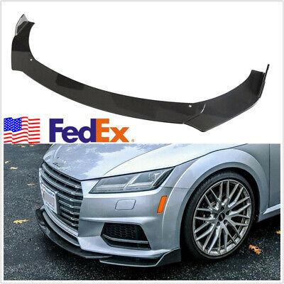 1 Set Glossy Carbon Fiber Color Universal Front Bumper Lip Body Kit Spoiler USA