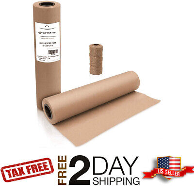 18 X 2100 Brown Kraft Paper Roll For Shipping Wrapping Packaging Art Craft
