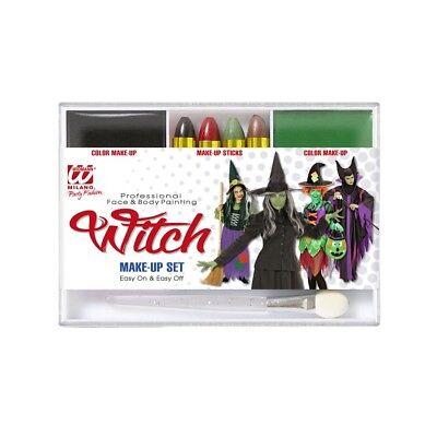 KINDER HALLOWEEN SCHMINKE Karneval Make-Up Farbe Stifte Hexen Kostüm Party 02410 (Kinderschminken Hexe Halloween)