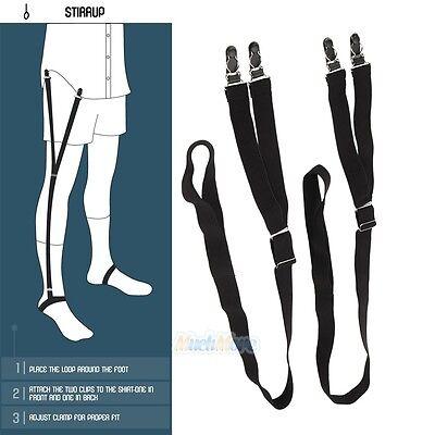 2 Stirrup Style Shirt Holder Military Uniform Shirt Stay Keeper Garter Suspender
