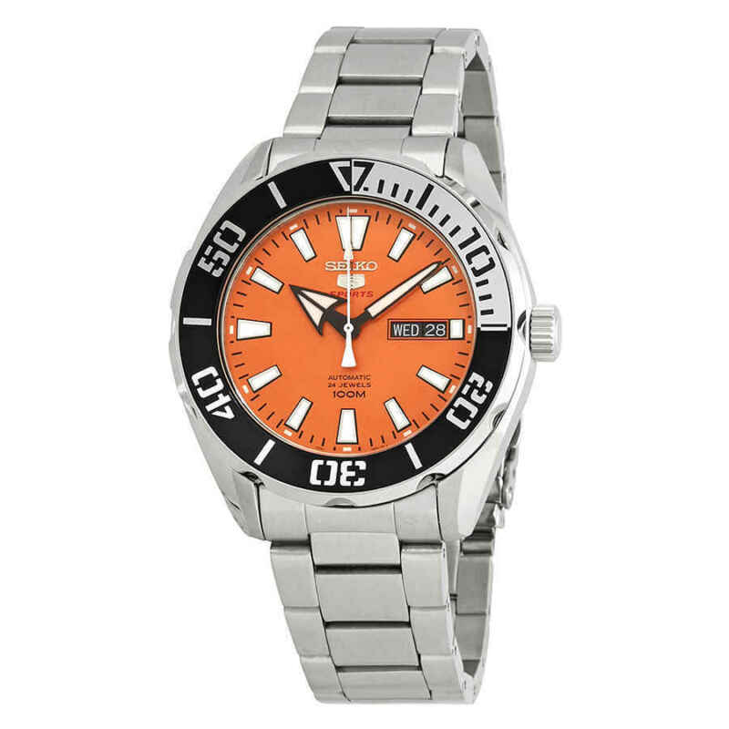 Seiko-5-Sports-Automatic-Orange-Dial-Stainless-Steel-Men-Watch-SRPC55