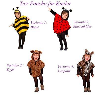 Karneval Biene Marienkäfer Tiger Leopard Umhang Ohr  Poncho12 (Leopard Kostüm Kind)