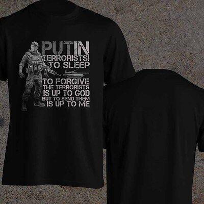 President Vladimir Putin T Shirt Quote Anti Terrorist Russian Army T Shirt