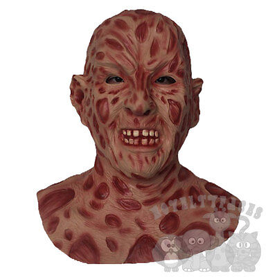 Famous Halloween Movie Character Burn Face Body with Chest Latex Party Prop Mask (Halloween Costumes Famous Movie Characters)