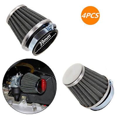 4x 39mm Inlet Tapered Cone Air Filter Intake Pod Moped Scooter ATV Quad Go Kart