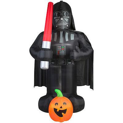 Halloween Inflatable Decorations Sale (New Gemmy 9' Darth Vader Halloween Inflatable Star Wars Airblown Yard Decor)