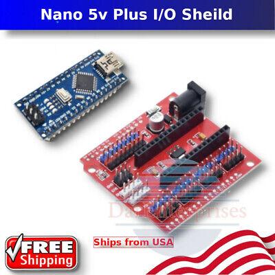 Mini Usb Nano V3.0 5v Atmega328p 16m Board Arduino Plus Io Shield