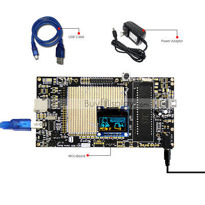 8051 Microcontroller Development Board Kit Usb Programmer For 0.96oled Display