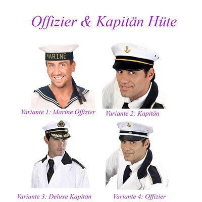 KAPITÄN HUT Karneval Fasching Seemann Matrose Kostüm Mütze Kopfbedeckung # - Kapitän Hut Kostüm