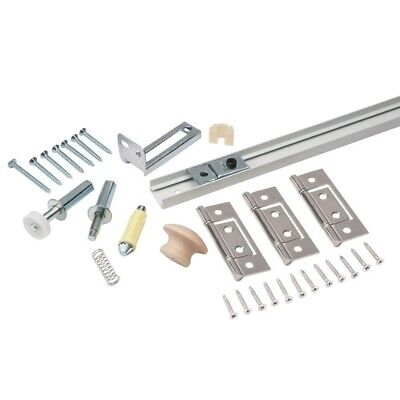 Bi-Fold Close Door Mounting Kit Hardware Set 30 in. Easy Install Closet Track Bi Fold Door Set
