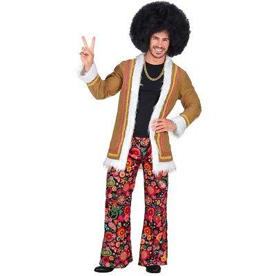 WOODSTOCK HIPPIE HERREN KOSTÜM # 60er 70er Jahre Flower Power Anzug Mantel - Herren Kostüm Woodstock