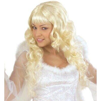 BLONDE DAMEN PERÜCKE Engelsperücke Engel Christkind Prinzessin Kostüm Party 6363