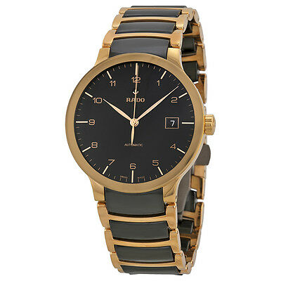 Rado Centrix Unavoidable Rose Gold and Black Ceramic Mens Watch R30953152
