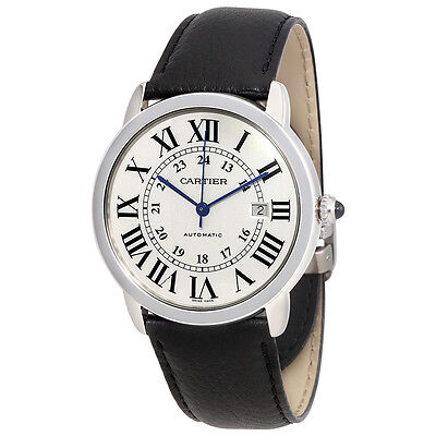 Cartier Ronde Solo Silvered Opaline Dial Automatic Ladies Watch WSRN0022