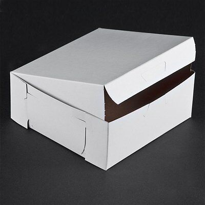 10 Count White 6x6x2.5 Bakery Or Cake Box